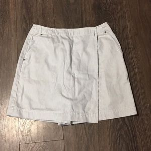 Liz Claiborne Blue & White Striped Jean Skort